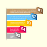 Business step paper and numbers design template Royalty Free Stock Photography