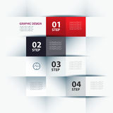Business step paper and numbers design template Royalty Free Stock Images