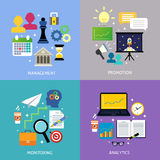 Business steps concept flat Royalty Free Stock Images