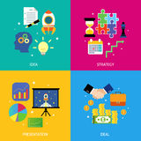 Business steps concept flat Stock Images
