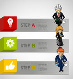 Business steps concept infographic work plan. Modern business strategy plan by steps concept illustration. EPS10 vector Royalty Free Stock Photo