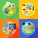 Business steps concept Stock Photos