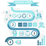 Business steps development infographics vector Royalty Free Stock Image