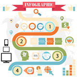 Business steps development infographics vector Royalty Free Stock Photography