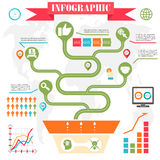 Business steps development infographics vector Royalty Free Stock Photos