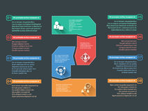 Business steps info graphics elements Stock Photo