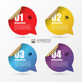Business steps. Origami style options banner. Vector. Modern business steps. Origami style options banner. Vector illustration. can be used for workflow layout Stock Images