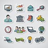 Business Stickers Set Royalty Free Stock Photography