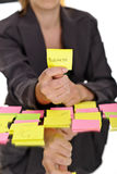 Business on sticky note Royalty Free Stock Image