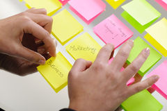 Business sticky notes Stock Image