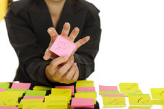 Business sticky notes Royalty Free Stock Photography