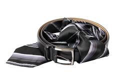 Business still life. Strap and tie Royalty Free Stock Photography