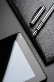 Ð¡ard holder, tablet, fountain pen Royalty Free Stock Images