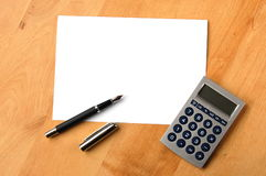 Business still life with copyspace Royalty Free Stock Images