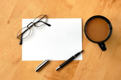 Business still life with copyspace royalty free stock photography