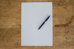 Business still life with empty sheet paper for copyspace Stock Images