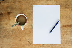 Business still life with empty sheet paper for copyspace Stock Photos