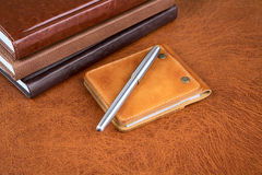 Business  still-life with leather organizers Stock Photography
