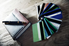 Business still-life-notebook and pen Royalty Free Stock Photo
