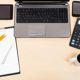 Business still life - top view of work place Royalty Free Stock Photography