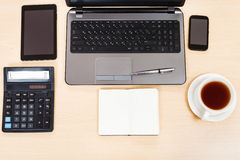 Business still life - top view of work table Stock Images