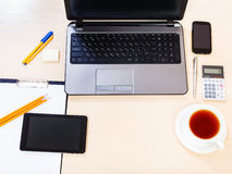 Business still life - top view of working place Royalty Free Stock Photo