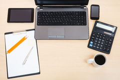 Business still life - top view of working place Stock Photography