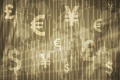 Business Stock Exchange Abstract Background. In Gray Gold Colors royalty free illustration