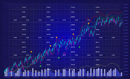 Business stock exchange chart graph Stock Image