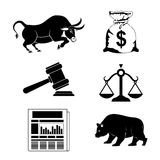 Business stock exchange. Business stock exhange design, vector illustration eps 10 Stock Photography