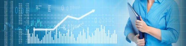 Business stock market background stock photo