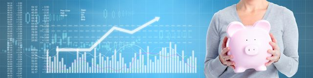 Business stock market background stock illustration