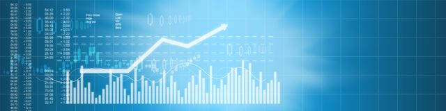 Business stock market background Stock Photography