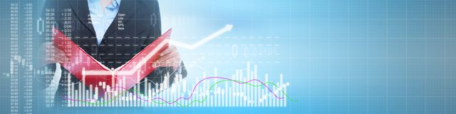 Business stock market background Stock Photography
