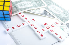 BUSINESS STOCK, PROFIT AND MONEY Royalty Free Stock Image