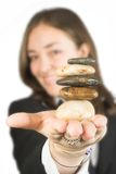 Business stones for teamwork Stock Photography