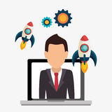Business strat-up company. Graphic design, illustration stock illustration