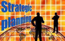 Business strategic planning Stock Image