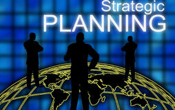 Business strategic planning. Graphical illustration for global business strategic planning Stock Photo