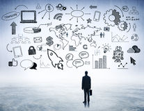 Business Strategic Planning with Internet Icons.  Royalty Free Stock Images