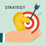 Business strategies and solutions Stock Image