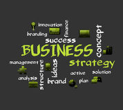 BUSINESS strategy. Creative vector background with icons