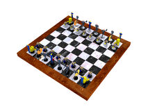 Business Strategy. 3d Business Chess game royalty free illustration