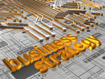 Business Strategy - 3D. Illustration about business concepts - Business Strategy - 3D Stock Photo