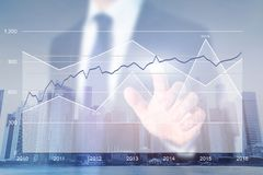 Business strategy analytics, financial charts stock photos
