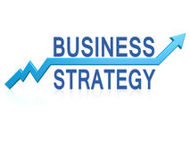 Business strategy with blue arrow Stock Images