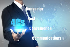 Business strategy 4C for success in business Stock Image