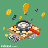Business strategy, chess game, solution search vector concept Stock Image