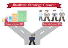 Business strategy choices Royalty Free Stock Photography
