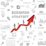 Business strategy concept Royalty Free Stock Photos